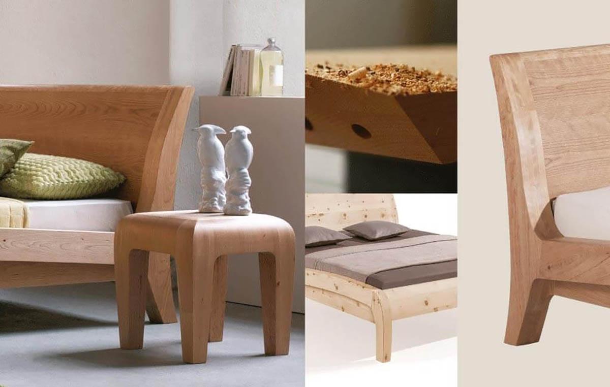 Dormiente-Massivholzbett-Beluga-Zirbe-Collage