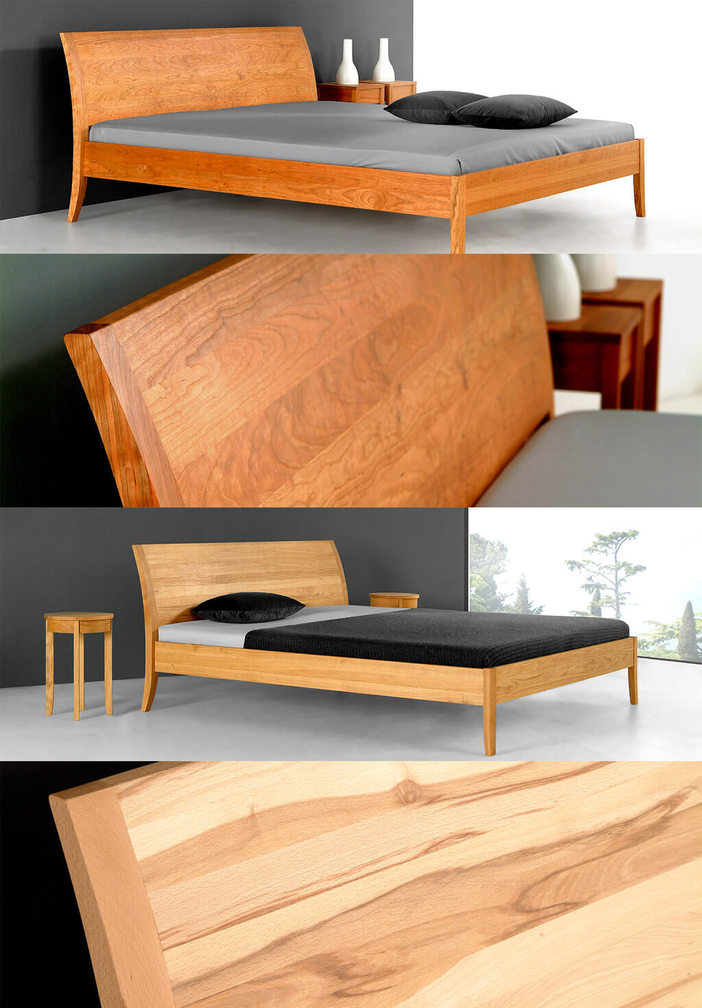 Coburger-Werksta-tten-Massivholzbett-Classico-Abbildung-Holzarten-Beispiele