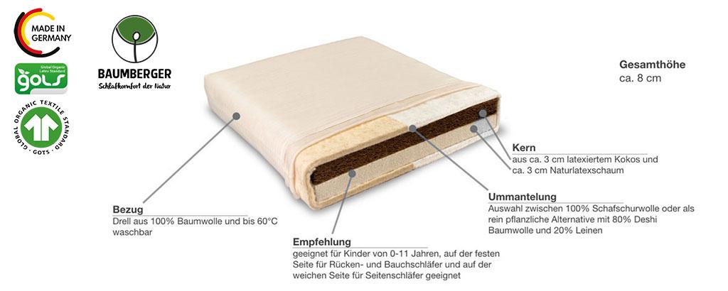 Baumberger-Vario-Kindermatratze-Produktmerkmale-Details
