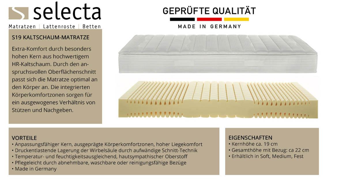 Selecta-S19-Kaltschaum-Matratze-online-kaufen