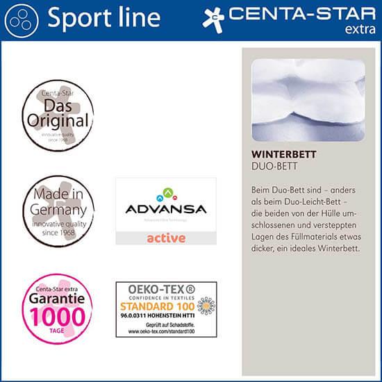 Centa-Star-Sport-Line-Winterbett-Duo-Bett-Qualitaetsmerkmale
