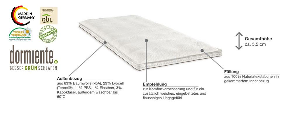 Dormiente-Natur-Topper-Sensible-Produktmerkmale-und-Details