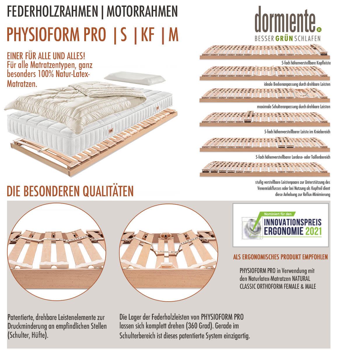 Dormiente-Physioform-Pro-Federholzrahmen-und-Motorrahmen