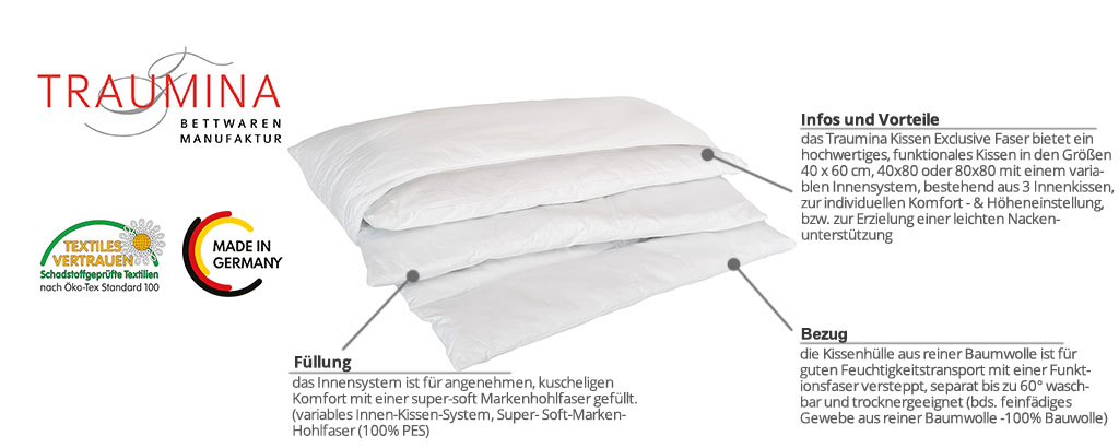 Traumina-Kissen-Exclusive-Faser-Produktmerkmale