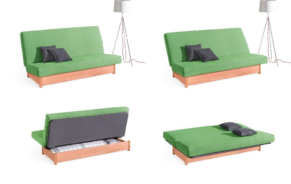 Dormiente-Schlafsofa-Welcome-Abbildung-Holzuntergestell