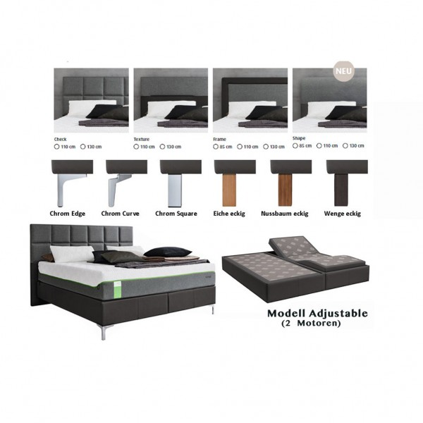 Tempur Boxspring Bett Foundation Adjustable incl. Sensation Elite ...