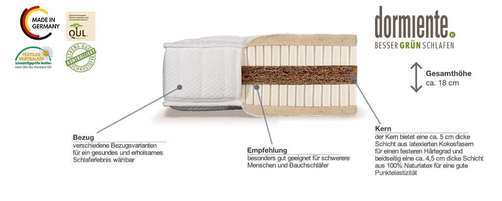 Dormiente-Natural-Classic-Bioform-Latexmatratze-Produktmerkmale-und-Details