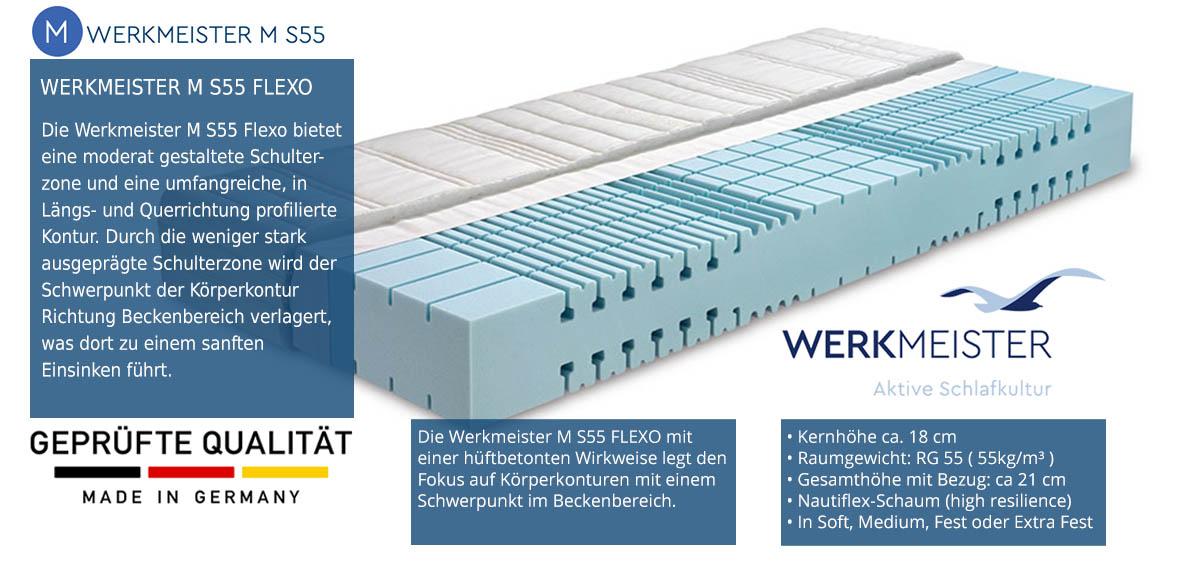 Werkmeister-M-S55-Flexo-Matratze-100-Tage-testen