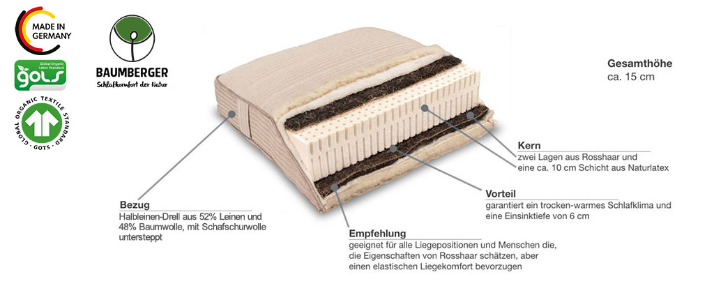 Baumberger-Rosshaarmatratze-PiuMa-Rosso-Produktmerkmale-Details