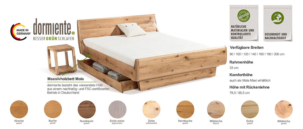Dormiente-Massivholzbett-Mola-Produktmerkmale