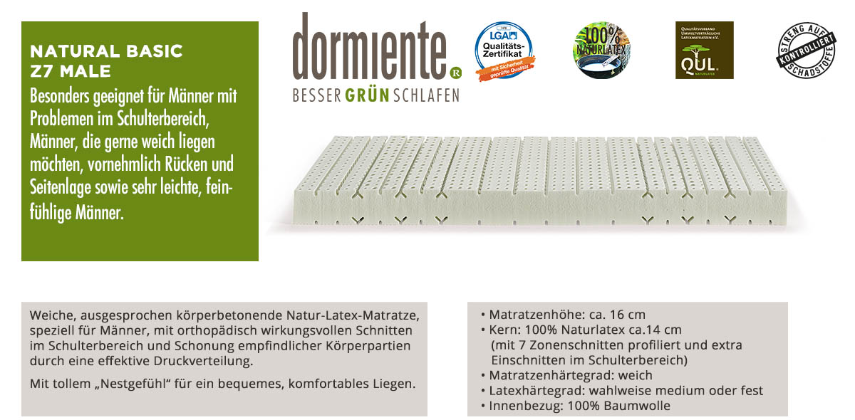 Dormiente-Natural-Basic-Z7-Male-online-kaufen