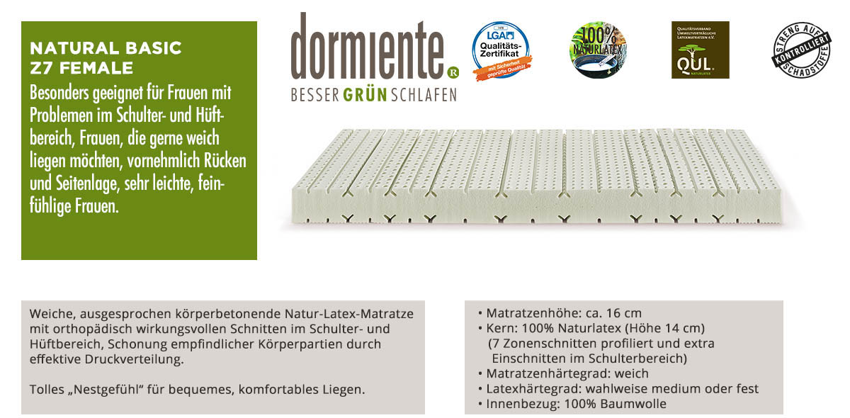 Dormiente-Natural-Basic-Z7-Female-online-bestellen