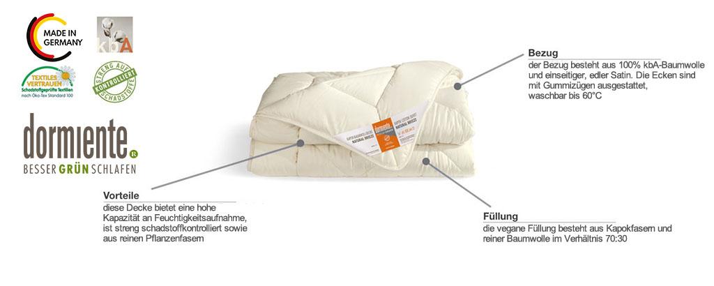 Dormiente-Natural-Kids-Kapokbaumwoll-Unterbett-Natural-Breeze-Produktmerkmale-und-Details