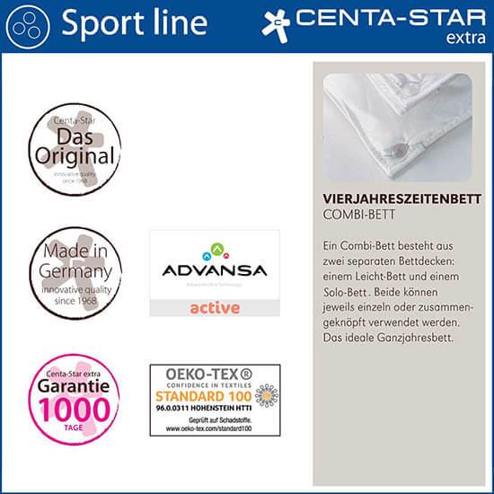 Centa-Star-Sport-Line-Vierjahreszeitenbett-Combi-Bett-Qualitaetsmerkmale