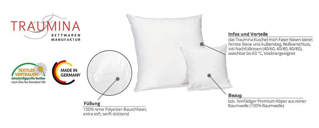 Traumina-Kuschel-mich-Faser-Kissen-Produktmerkmale