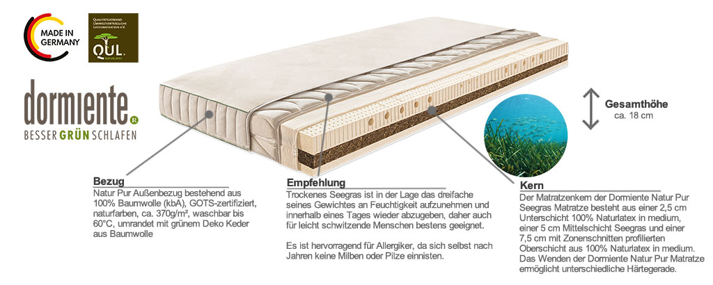 Dormiente-Natur-Pur-Seegras-Matratze-Produktmerkmale-und-Details