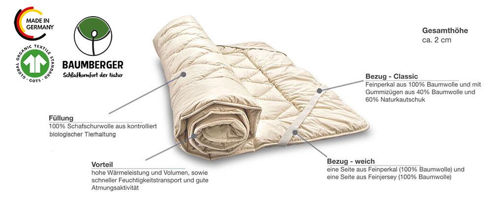 Baumberger-Woll-Unterbett-Produktmerkmale-Details