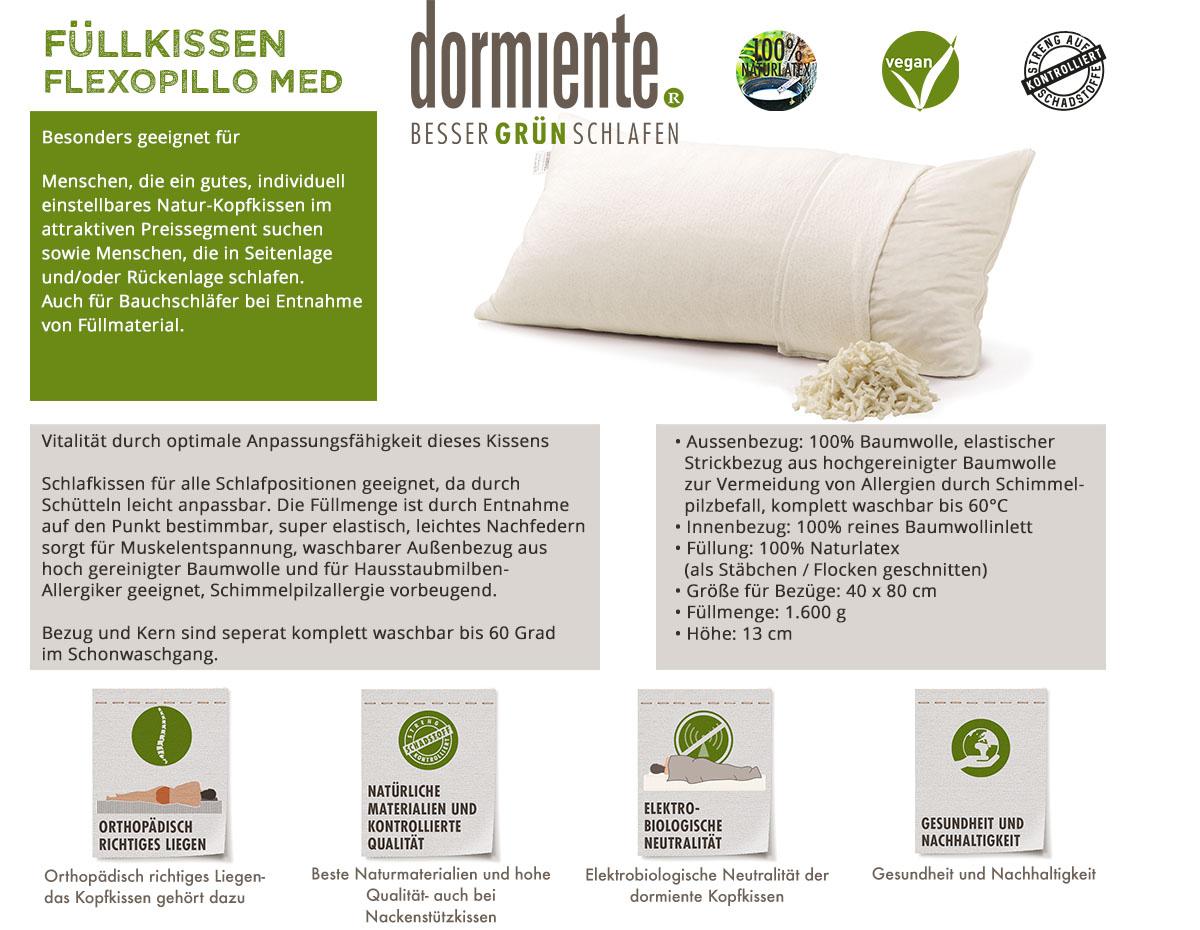 Dormiente Füllkissen Flexopillo Med