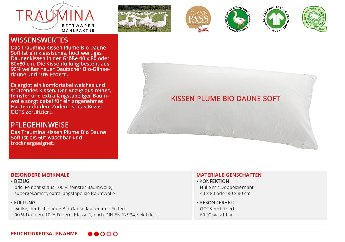 Traumina-Kissen-Plume-Bio-Daune-Soft-online-kaufen
