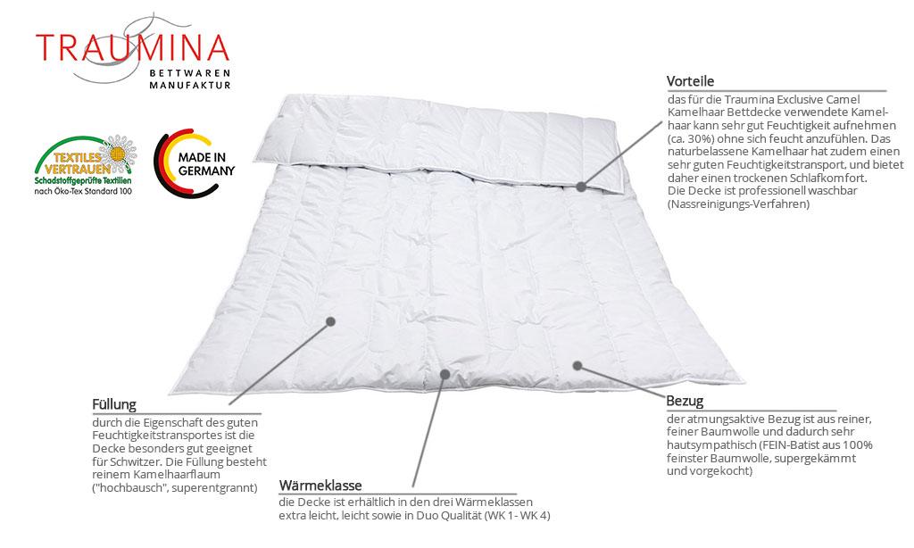 Traumina-Exclusive-Camel-Kamelhaar-Bettdecke-Produktmerkmale