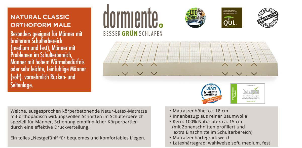 Dormiente-Natural-Classic-Orthoform-Male-online-bestellen