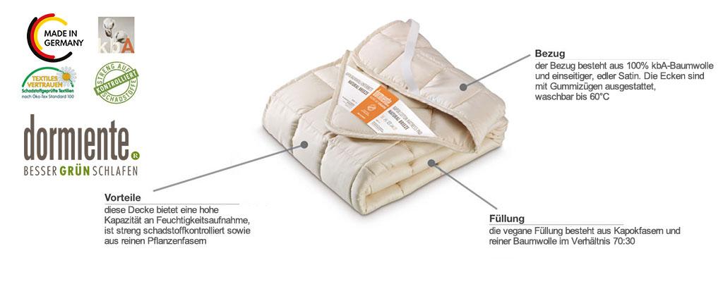 Dormiente-Kapokbaumwoll-Unterbett-Natural-Breeze-Produktmerkmale-und-Details
