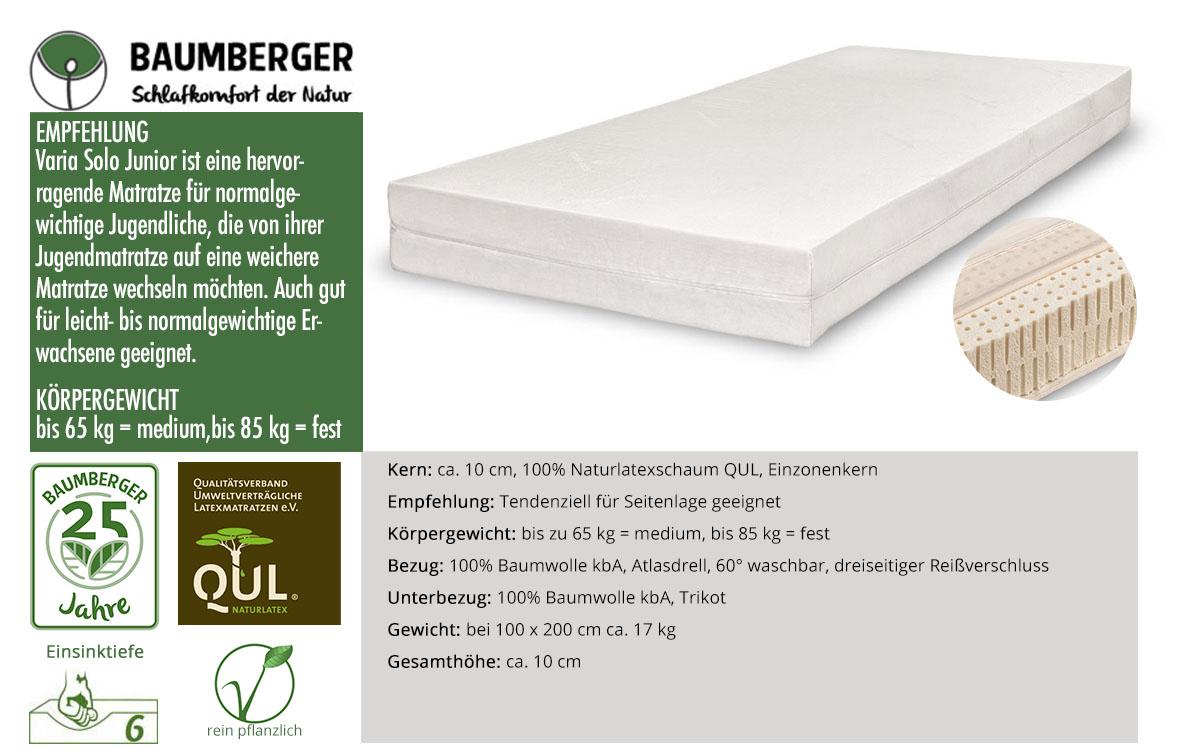Baumberger-Varia-Solo-Junior-Naturlatexmatratze-online-kaufen