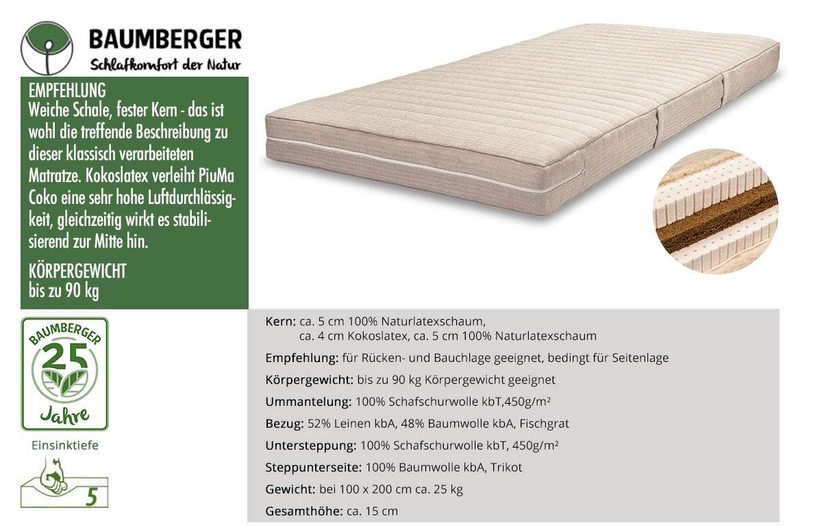 Baumberger-PiuMa-Coko-Sandwich-Naturmatratze-online-kaufen