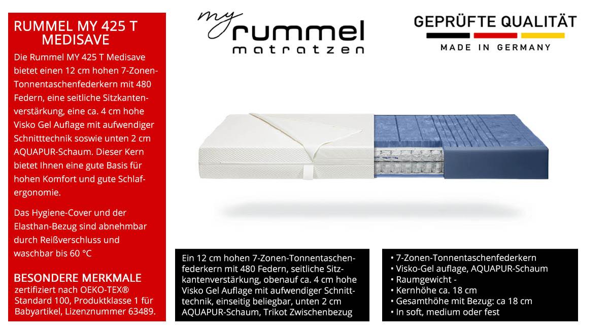 Rummel-MY-425-T-Medisave-Taschenfederkernmatratze-7-Zonen-kaufen