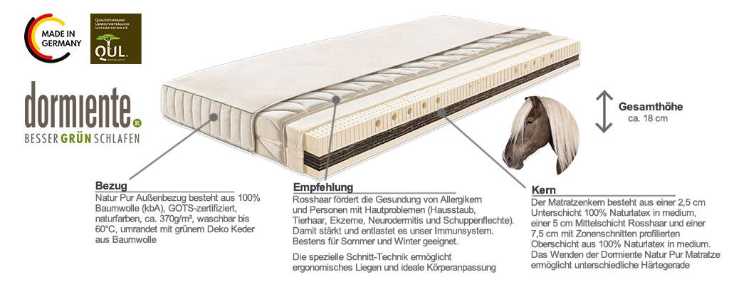 Dormiente-Natur-Pur-Rosshaar-Matratze-Produktmerkmale-und-Details