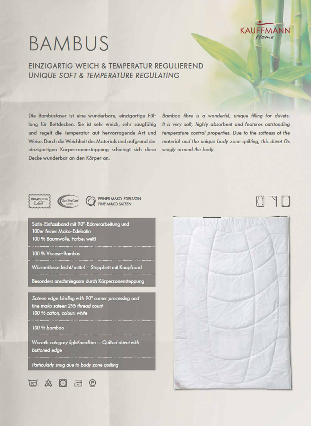 Kauffmann-Bambusdecke-Produktmerkmale