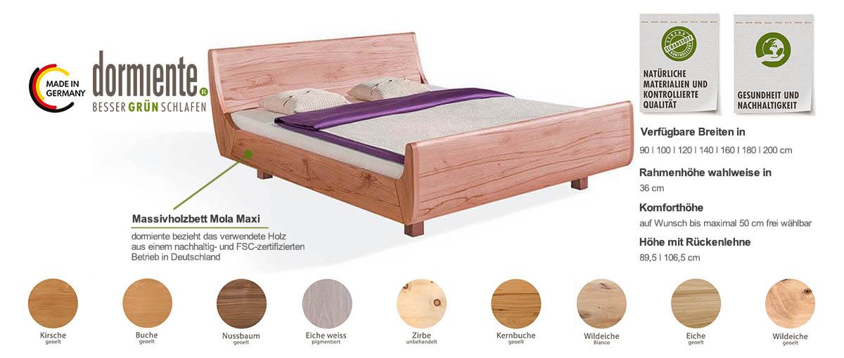 Dormiente-Massivholzbett-Mola-Maxi-Produktmerkmale