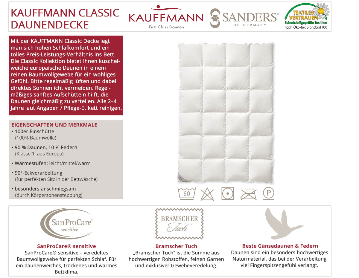 Kauffmann-Sanders-Home-Classic-Daunendecke-online-kaufen