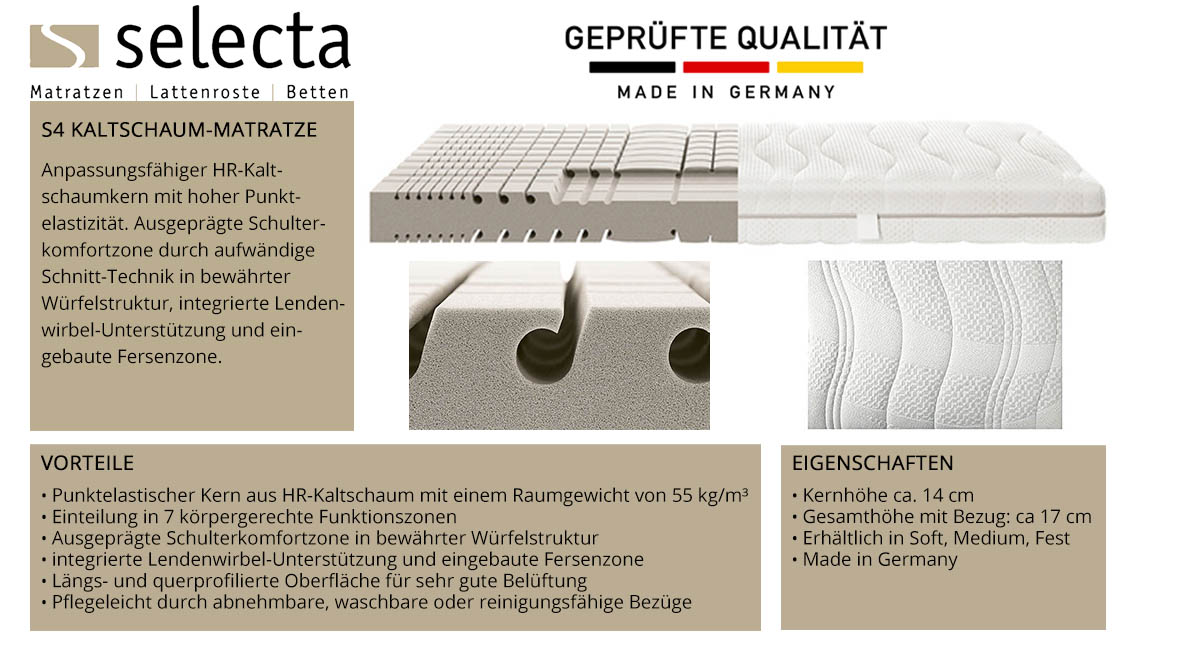 Selecta-S4-Kaltschaum-Matratze-online-kaufen