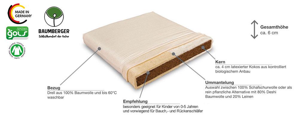 Baumberger-Cocolana-Wiegenmatratze-Produktmerkmale-Details