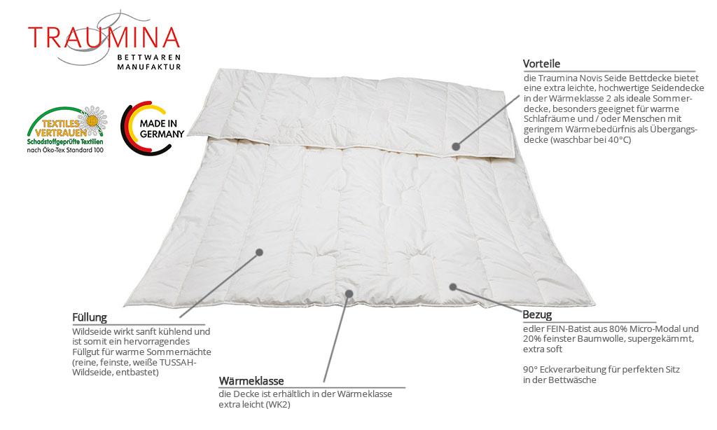 Traumina-Novis-Seide-Bettdecke-Produktmerkmale