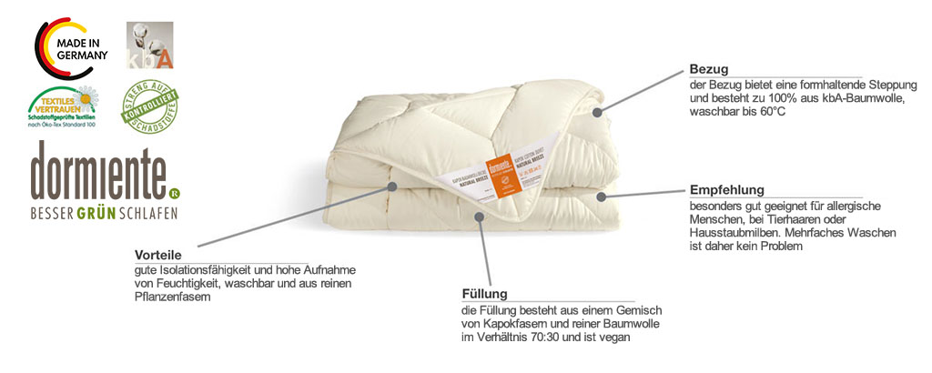 Dormiente-Natural-Kids-Kapokbaumwoll-Decke-Natural-Breeze-Produktmerkmale-und-Details