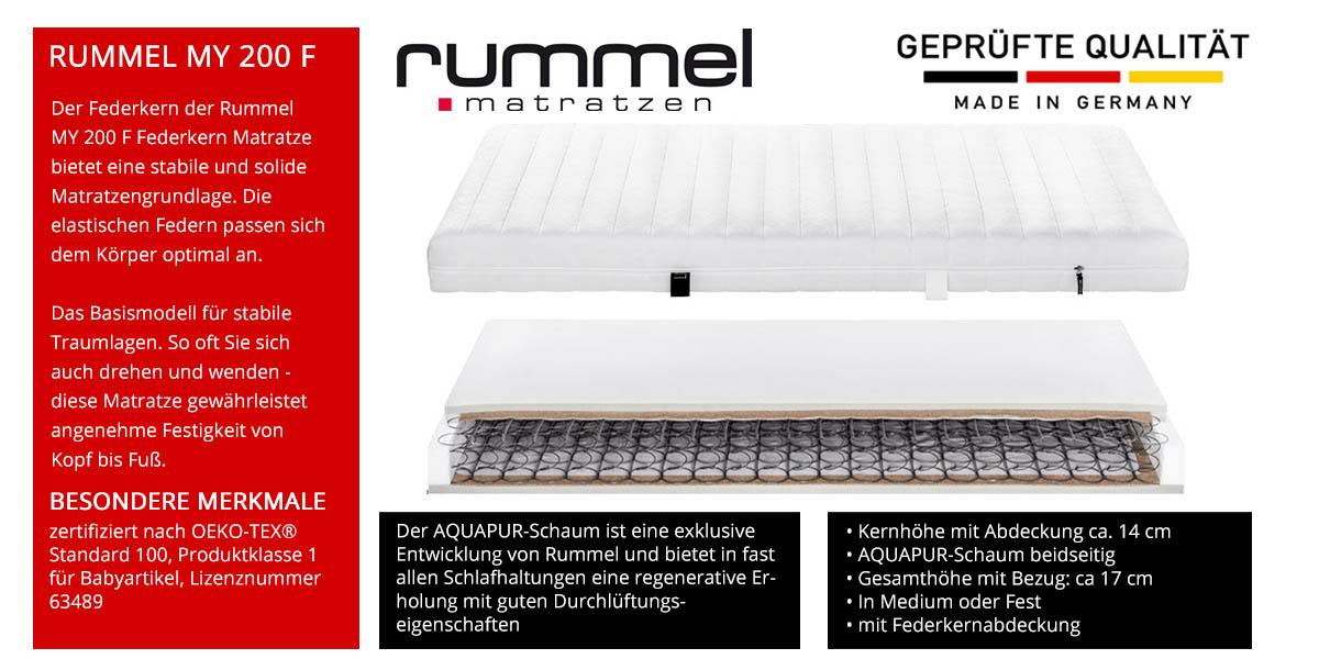 Rummel-MY-200-F-Federkernmatratze-online-kaufen