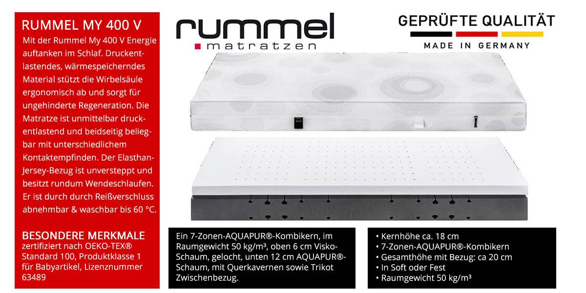 Rummel-MY-400-V-Visco-Matratze-online-kaufen