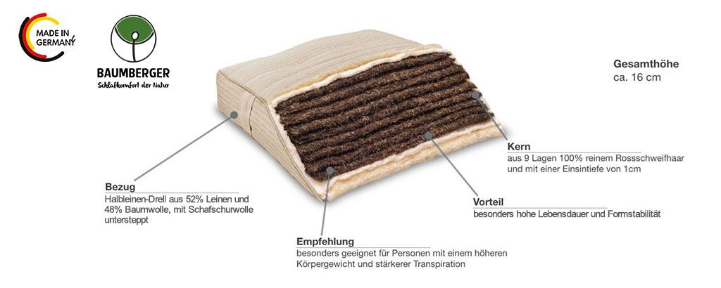 Baumberger-Rosshaarmatratze-Rossa-Produktmerkmale-Details