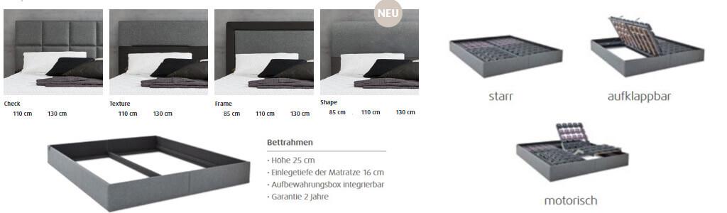 Tempur-Relax-Bett-Kopfteil-und-Bettkasten-Optionen