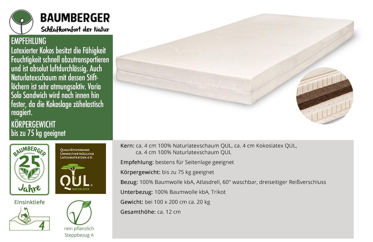 Baumberger-Varia-Solo-Sandwich-Naturlatexmatratze-online-kaufen