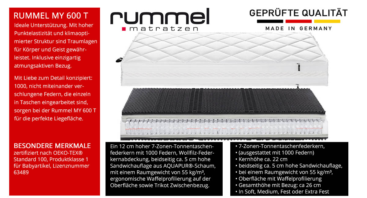 Rummel-MY-600-T-Taschenfederkernmatratze-online-kaufen