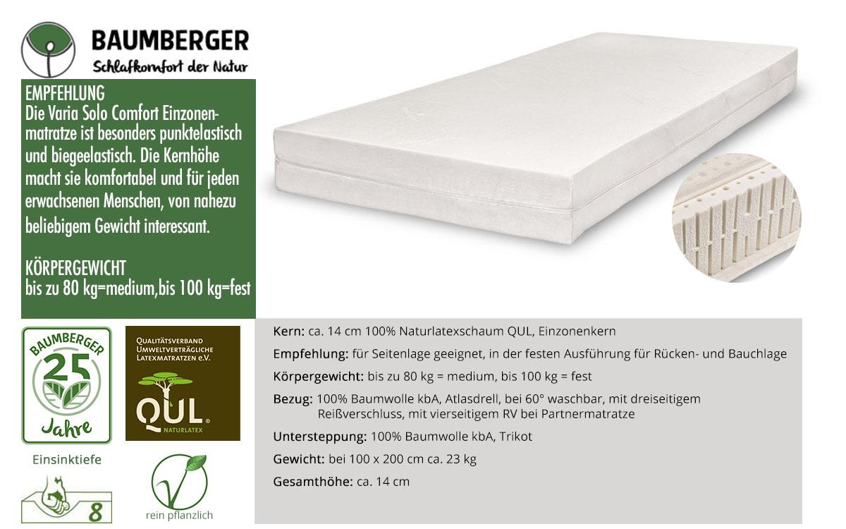 Baumberger-Varia-Solo-Comfort-Naturlatexmatratze-online-bestellen
