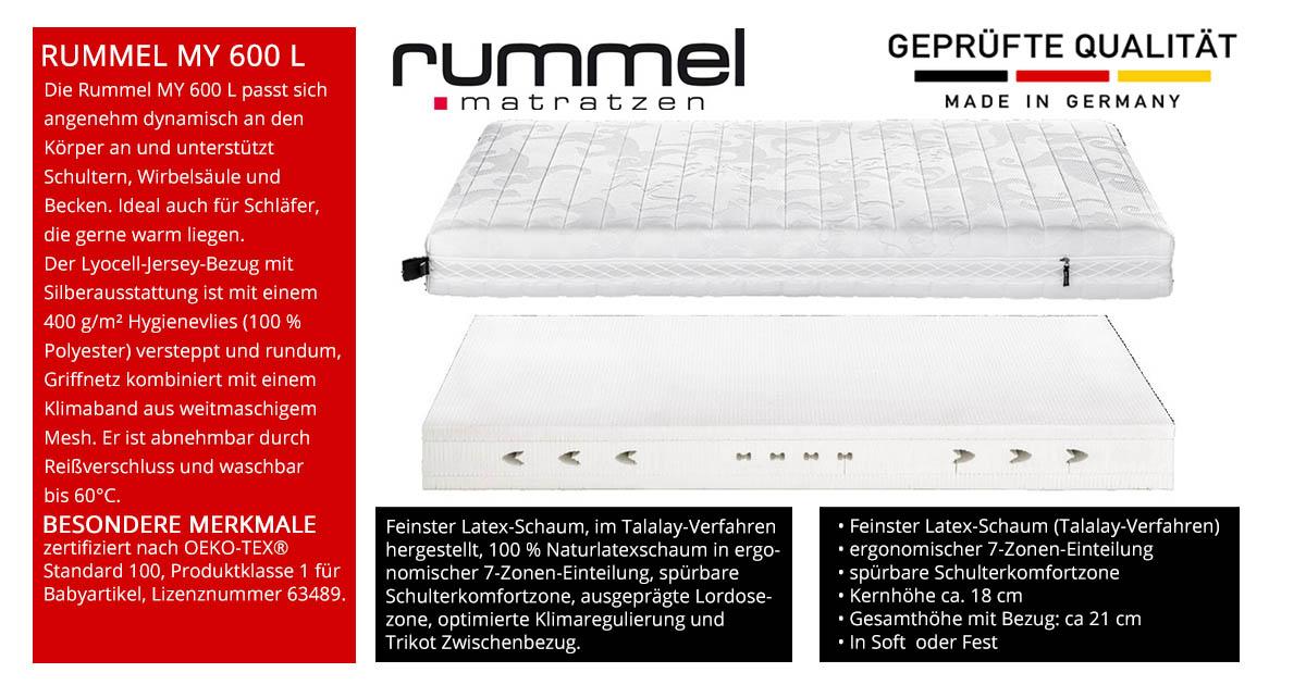 Rummel-MY-600-L-Latex-Schaummatratze-online-kaufen
