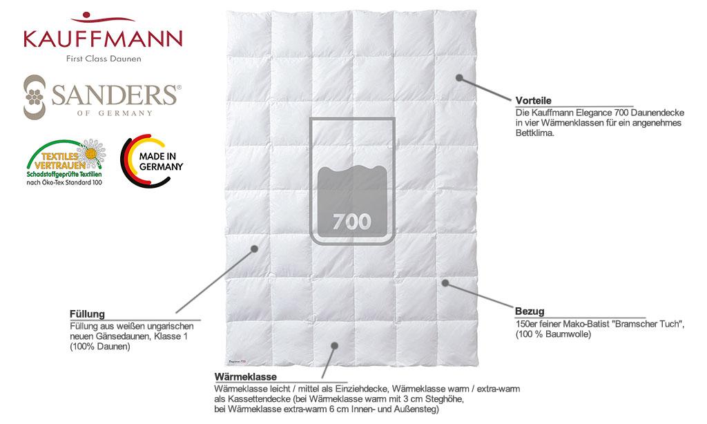 Kauffmann-Sanders-Elegance-700-Daunendecke-Produktmerkmale