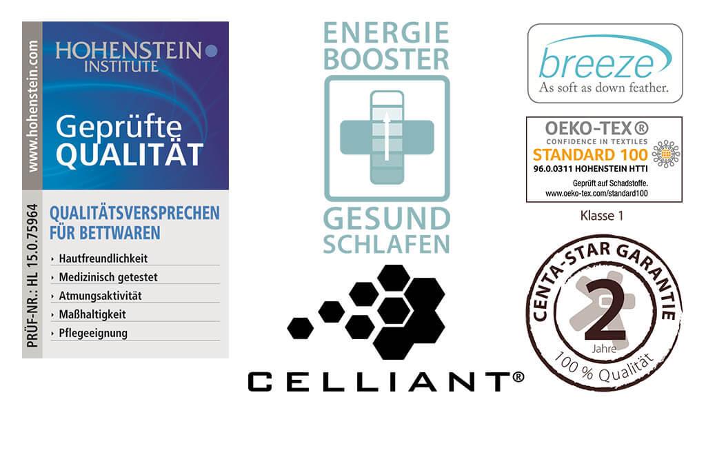 Centa-Star-Regeneration-Kopfkissen-Pflegehinweise-Nachhaltigkeit-Garantie