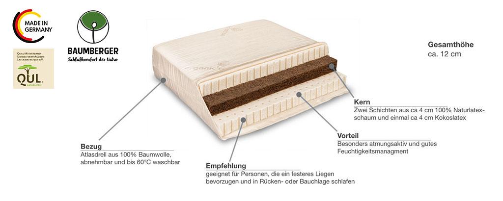 Baumberger-Naturlatex-Matratze-Varia-Solo-Sandwich-Produktmerkmale-Details