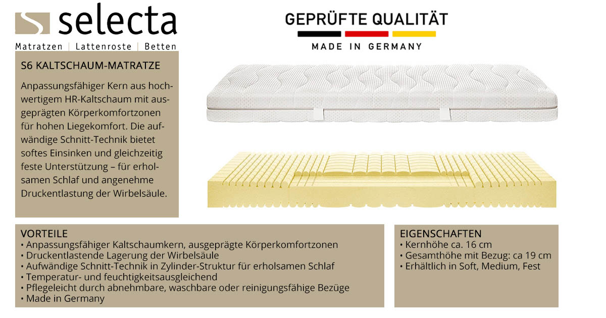 Selecta-S6-Kaltschaum-Matratze-online-kaufen