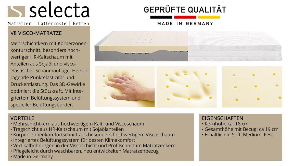 Selecta-V8-Visco-Matratze-online-kaufen